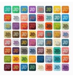 Flat design 3D vector