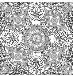 floral oriental line ornament mandala semless vector image