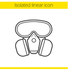 gas mask linear icon vector image
