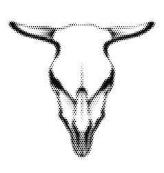 Halftoned Skull vector image