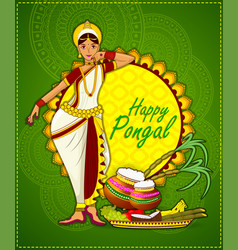 Happy pongal festival vector