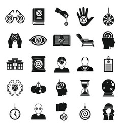 Hypnosis doctor icons set simple style vector