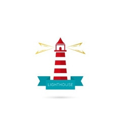 icons lighthouse vector image