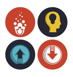 identity symbols set vector image
