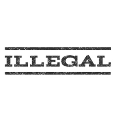 Illegal watermark stamp vector