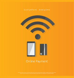 internet mobile payment banking icon using vector image