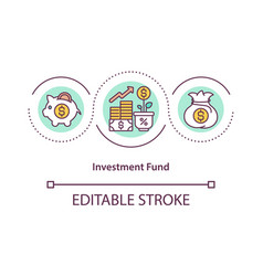 Investment fund concept icon vector