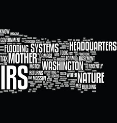 Irs vs mother nature text background word vector