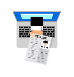 job search online job interview looking for job vector image