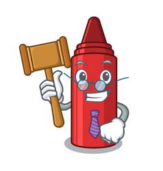 Judge red crayon next to cartoon wallet vector