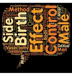 Know the side effects of vasectomy male birth vector