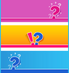 Large question mark sign on blue and pink vector