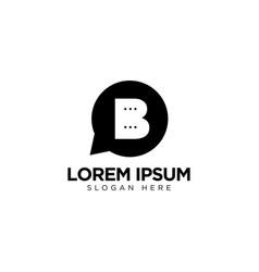 Letter b chat logo design communication logo vector