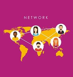 network design vector image