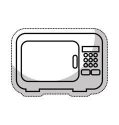 oven microwave isolated icon vector image vector image