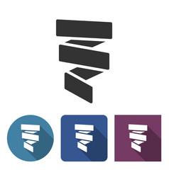 Paper streamer decoration icon vector