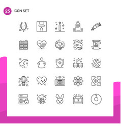 Pictograph set 25 simple lines cold water vector