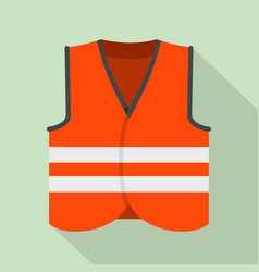 Road vest icon flat style vector