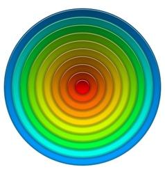 Round multicolored button vector image