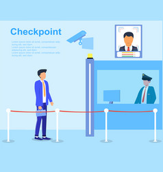 Security concept with check point and guard vector