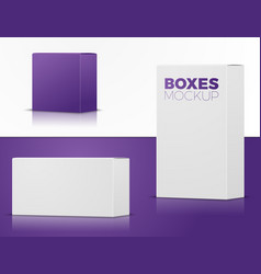 set different boxes for branding etc vector image