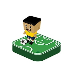 soccer player isometric cartoon vector image