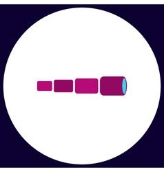 Spyglass computer symbol vector