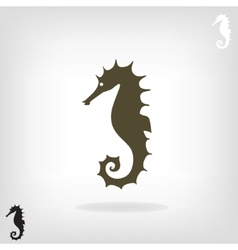 stylized silhouette a sea horse vector image