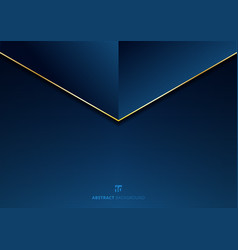 Template abstract triangle header with golden vector