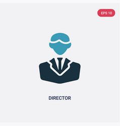 two color director icon from professions concept vector image