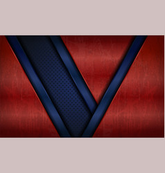 vintage metal red and blue abstract geometry vector image