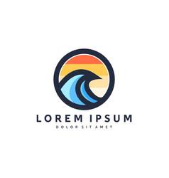 waves logo design modern templates vector image