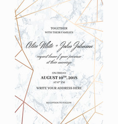 wedding invitation card template geometric design vector image