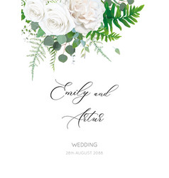 wedding invite invitation floral save date card vector image