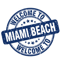Welcome to miami beach vector