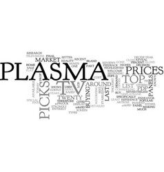 what are the top picks in plasma tv text word vector image