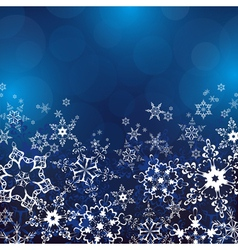 Winter background with ornate snowflakes vector