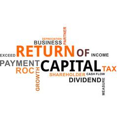 Word cloud - return capital vector