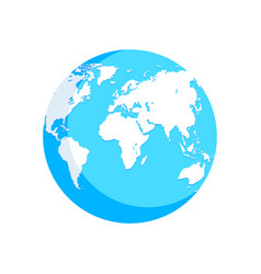 world map blue white globe vector image