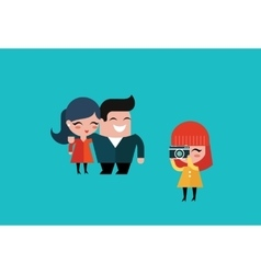 couple taking a picture vector image vector image