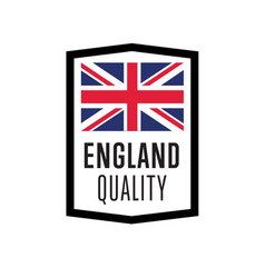 england quality isolated label for products vector image