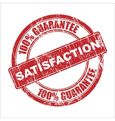 satisfaction stamp vector image vector image