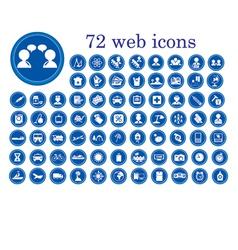 stylized web icons vector image