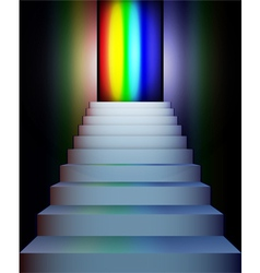 stairs to rainbow vector image vector image