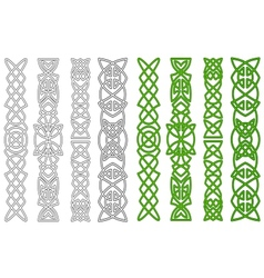 Celtic ornaments and elements vector image vector image