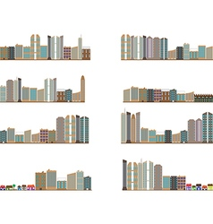 City landscapes collection vector image