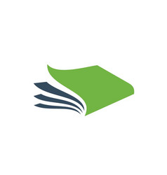 creative open book logo vector image