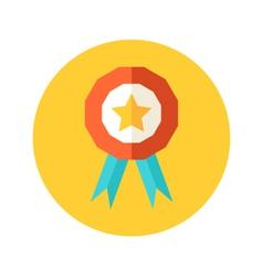 Flat award icon vector image vector image