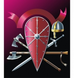 poleaxe vector image vector image