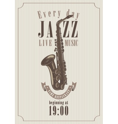 poster for a jazz vector image vector image